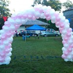 Balloon Arch at 4th Annual Coach Beeson 5K Run Fun for The CURE at Greenwood Plantation