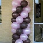Pink and Chocolate Balloon Column