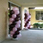 Pink and Chocolate Balloon Columns