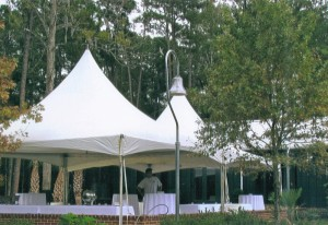 20 x 20 ft High Peak Tents and Tables