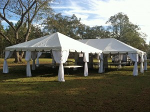 20 x 40 ft Wedding Frame Tent with White Pole Covers