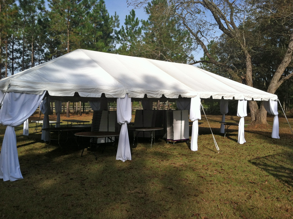 20 x 40 ft Wedding Frame Tent with White Pole Covers & 20 x 40 ft Wedding Frame Tent with White Pole Covers - Ring Party ...