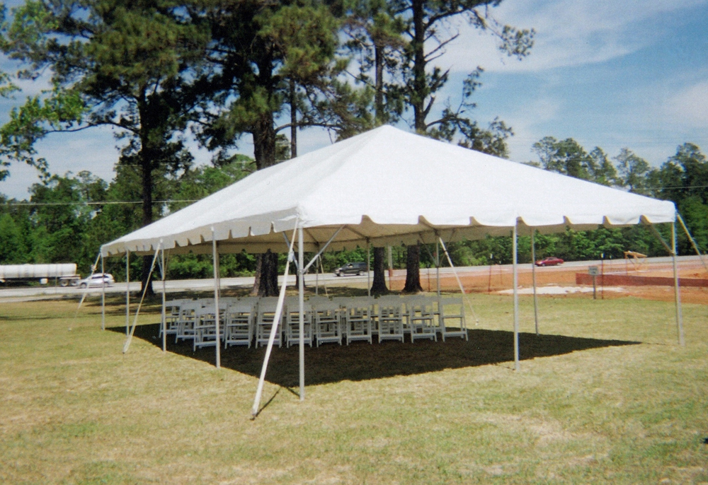 20 x 40 ft Wedding Frame Tent and White Wooden Chairs & 20 x 40 ft Wedding Frame Tent and White Wooden Chairs - Ring Party ...