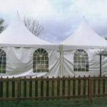 Wedding Tents, 20 x 20 ft High Peak Tent, Side Wall/Window