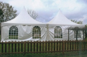 Wedding Tents, 20 x 20 ft High Peak Tent, Side Wall/Window